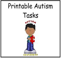 Printable Autism Tasks ~ Many, if not all, are now FREE! #autism #ASD #Aspergers
