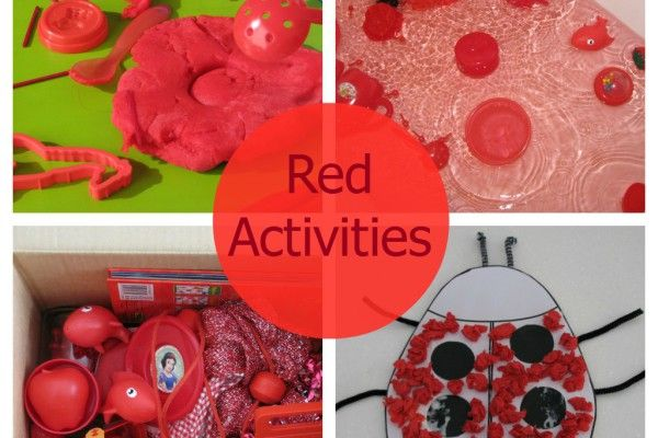 Activities, ideas for toddlers and kids for learning about colours. 10 activities for learning the colour red! Crafts, play dough, bath fun, discovery boxes and more. #colourredactivitiesforearlychildhood #toddlersandkids