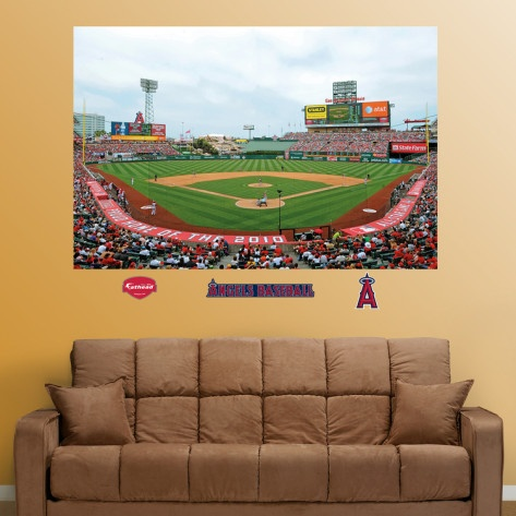 Los angeles angels of anaheim stadium mural mural wall for Baseball field mural