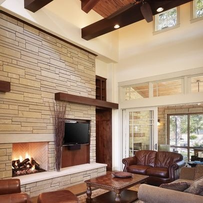 Living Photos 70s Brick Fireplace Update Design Pictures Remodel Decor and Ideas  page 3