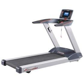 """Banda de alergare profesionala, marca inSPORTline Borra.  Ofera posibilitatea de conectare a iPad-lui, iPhone-lui sau iPod-lui, are motor puternic, suprafata de alergare larga, 7 programe presetate, monitor 7"""", program HRC (controlul pulsului)."""