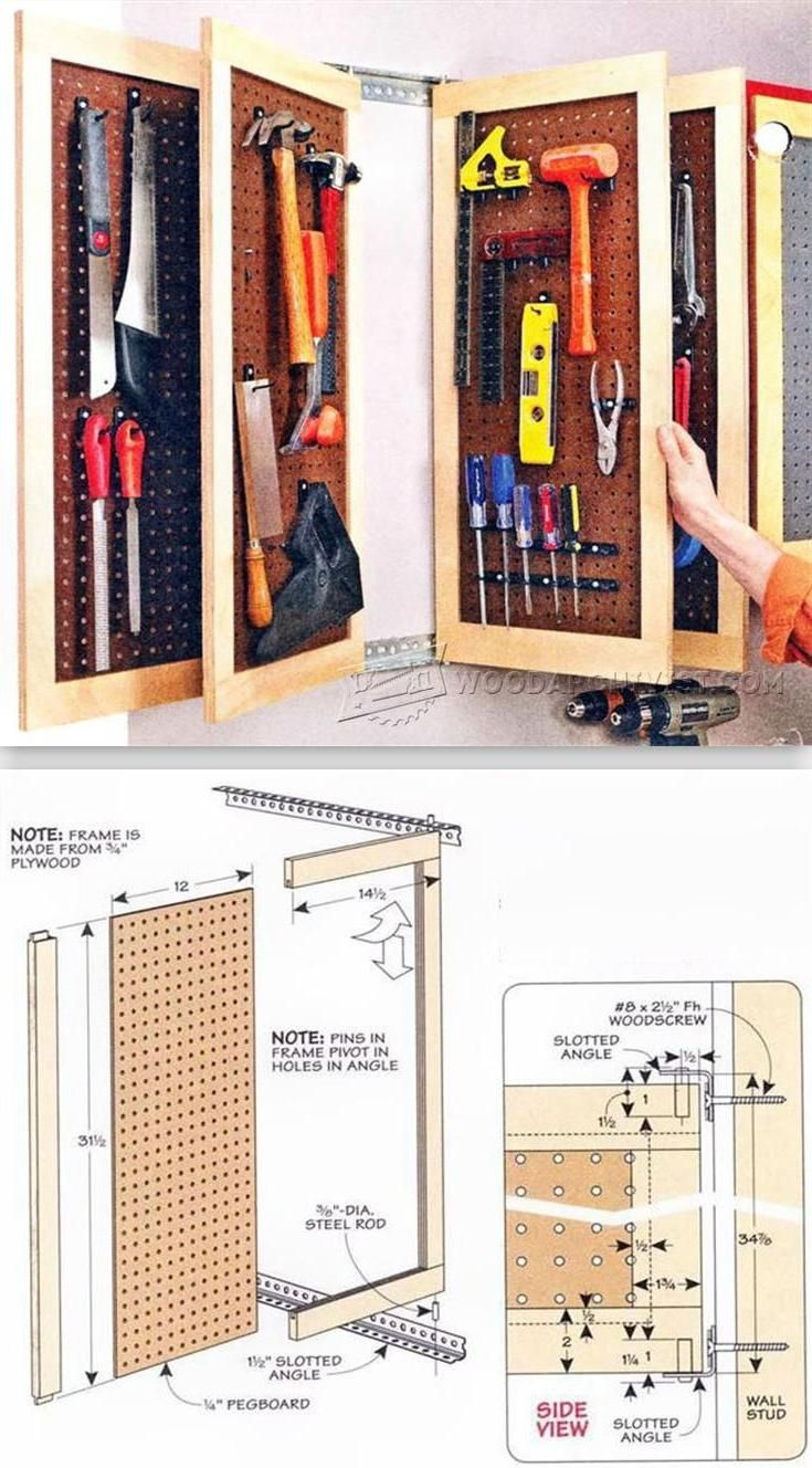 Pegboard Storage Panels - Workshop Solutions Plans, Tips and Tricks | WoodArchivist.com