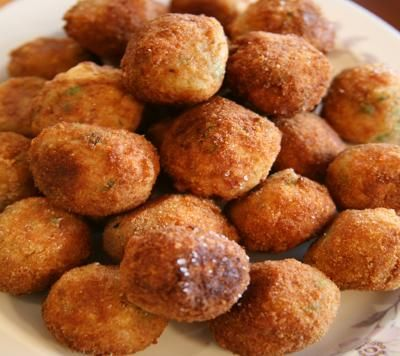 "From ""Lidia's Italy"" - stuffed rice balls 