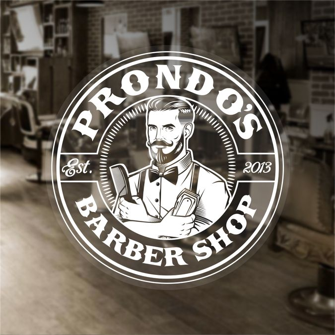 Vintage original Barber Shop logo