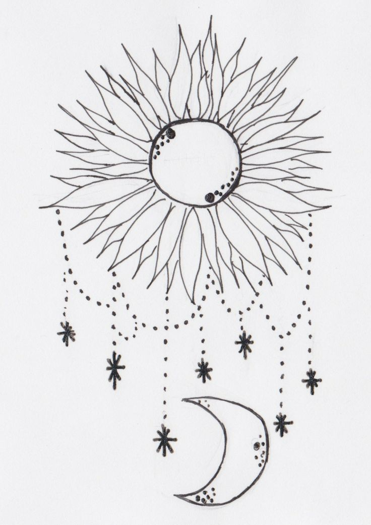 Radiate Love Glow With Happiness Sun Moon Drawing Sky