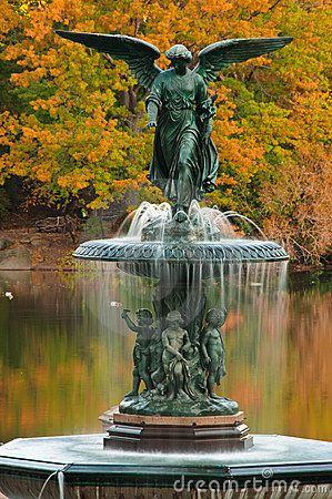 Bethesda Fountain in Central Park, New York City, New York.