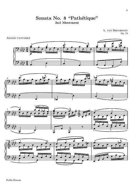 beethoven pathetique 2nd movement tutorial