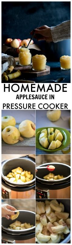 This homemade applesauce is fantastic and it's done in 5 minutes using a pressure cooker. Great pressure cooker recipe!