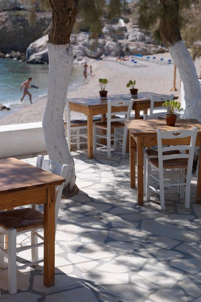 The restaurant at Beach House, Antiparos, Greece
