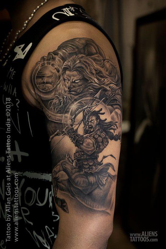 f52d02c57e3c5 Zeus and Sagittarius Tattoo by Allan Gois at Aliens Tattoo, India ...