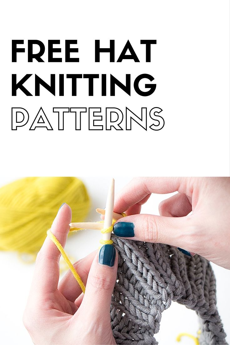 Free hat knitting patterns. For baby, toddler, children and adults.