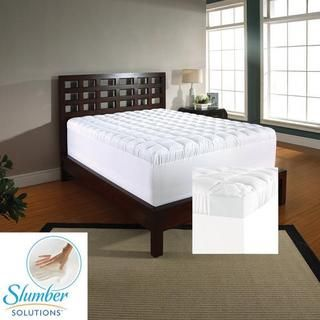 slumber solutions 4inch memory foam and 15inch fiber mattress topper by slumber solutions - Slumber Solutions