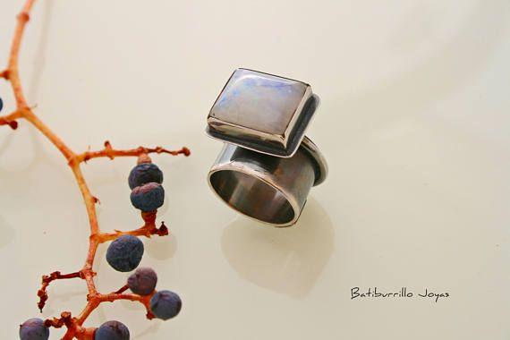 Anillo Escultura escultura piedra luna anillo grande anillo
