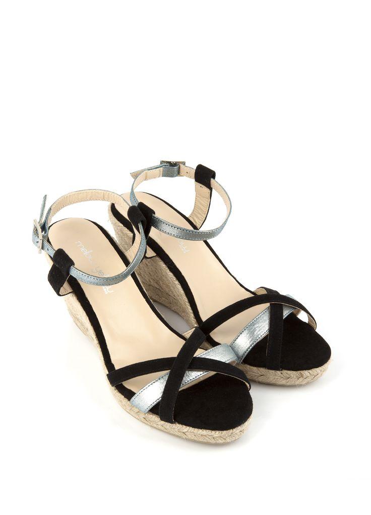 Sandale compensée VEPEPS Noir - SOLDES
