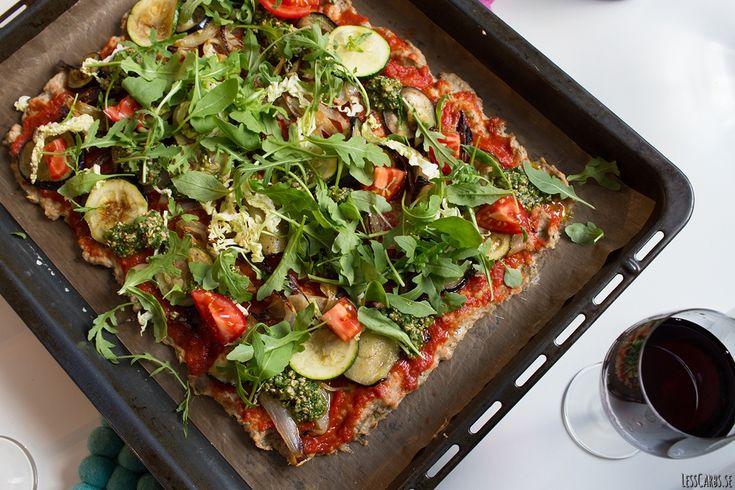 Meatza med kycklingfärs | Lesscarbs.se
