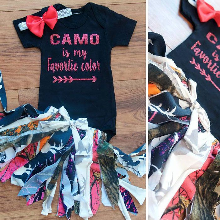 Cute Camo Baby Outfit