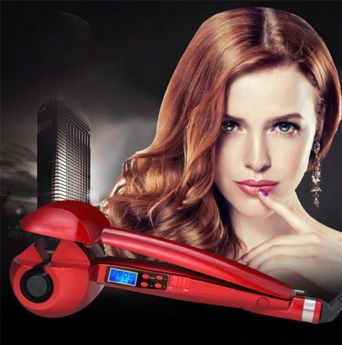 Liquid Crystal Full Automatic Scald Preventing Hair Curling Machine. Professional automatic winder.Nanometer titanium volume chamber, gently pull hair, heating and holding - initiates silky gloss finish curly hair. Super Curl allows you to control the temperature, time, and the direction , provides the flexibility to form a loose wave, soft swirl, definition of Curl, and more.