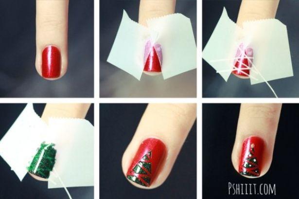 Cute Christmas DIY Nail Art Ideas