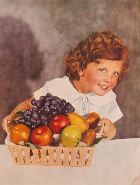 Vintage print: photographic image of a young girl by freshdarling
