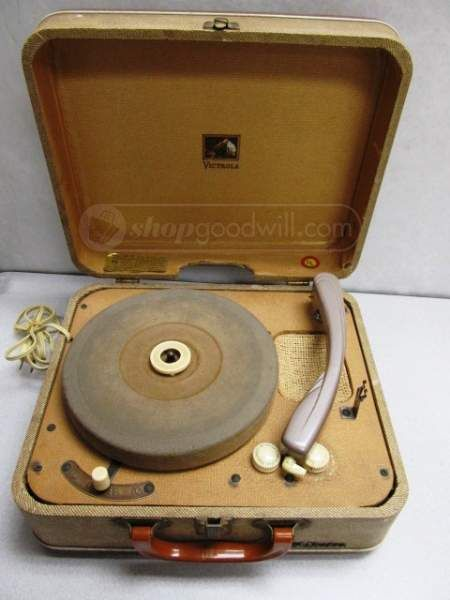 Vintage RCA Victor Turntable Record Player Model