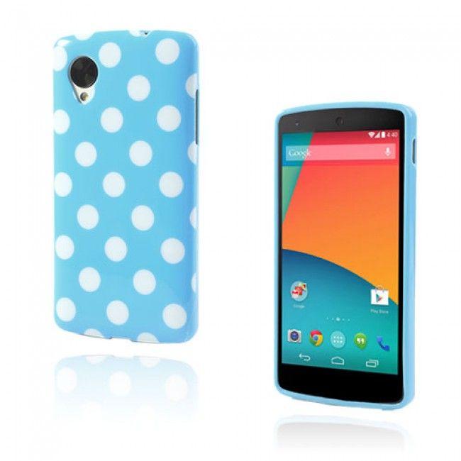 Polka Dots (Sininen) Google Nexus 5 Suojakuori - http://lux-case.fi/catalog/product/view/id/23519/s/polka-dots-blue-google-nexus-5-cover/