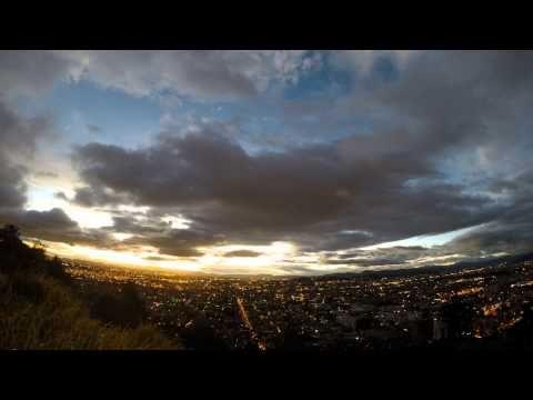 Timelapse en el mirador de la calera. Bogota 2014