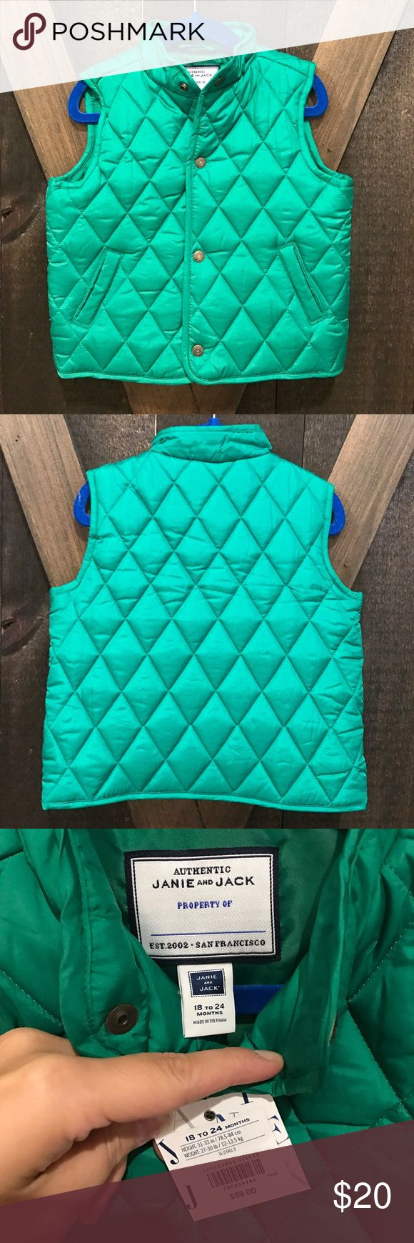 Janie and Jack Green Quilted Vest Janie and jack Green Quilted Vest! NWT Janie and Jack Jackets & Coats Vests