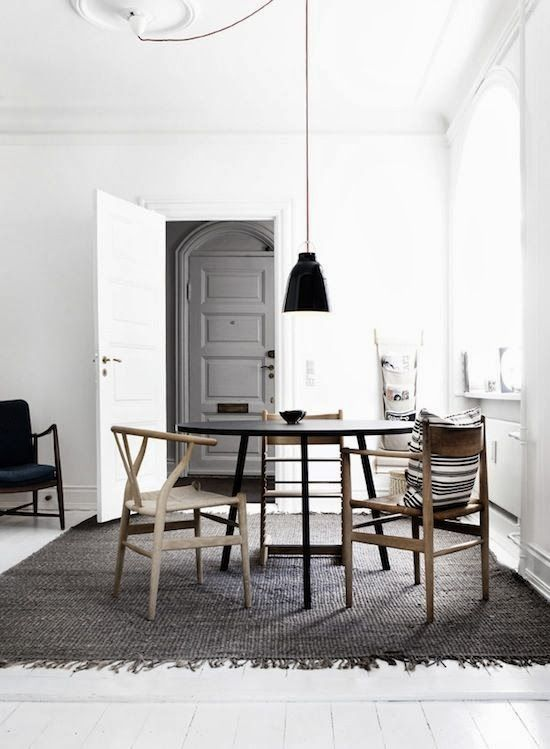 Interior Styling | Black, White + Wood