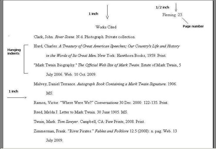 Sample Pages In Mla Format Mla Mla Format Works Cited