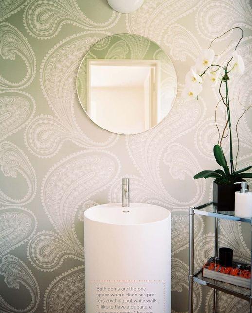 tapete pulver zimmer dekoration badezimmer traumbder moderne bder moderne badgestaltung halle bathroom wallpaper paisley wallpaper modern sink - Badgestaltung Mit Tapete