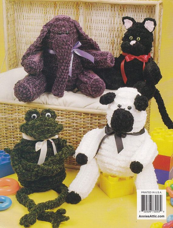 Easy Cuddly Critters Annie S Attic Crochet Animal Buddies Pattern Booklet 873253 Htf Crochet Patterns Crochet Stuffed Toys Patterns