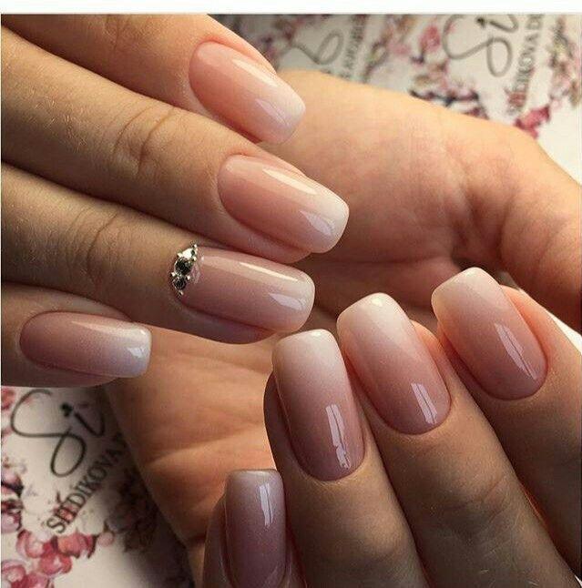 neutral colours ~ pink to white gradient goodness Nail Design, Nail Art, Nail Salon, Irvine, Newport Beach