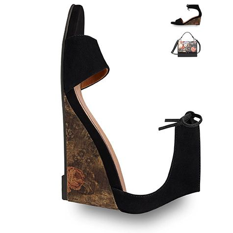 #black #shoe, #wedge, #summer, #sandal, #trends #2016 #tamaris