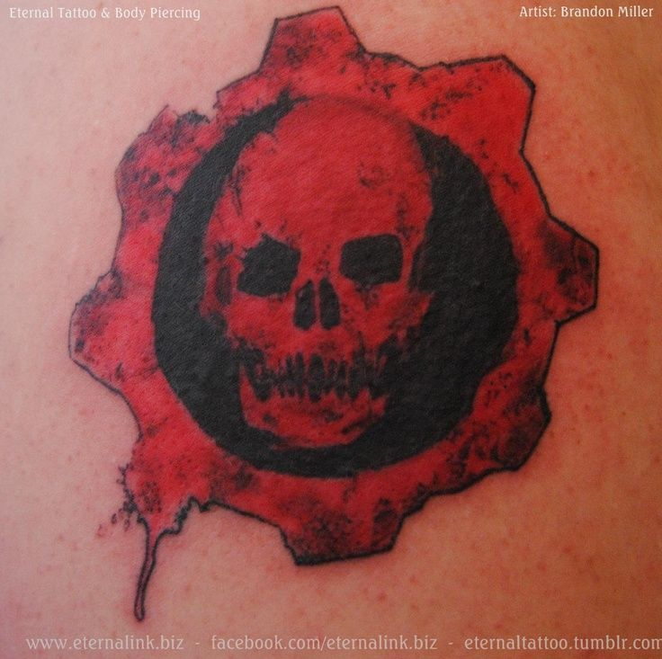 22 best gears of war cog tattoo images on pinterest for Gears of war logo tattoo