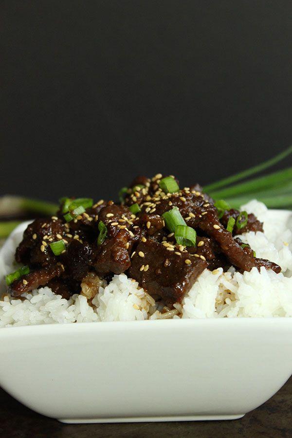 Sweet N Simple Mongolian Beef #healthycomfortfood #quickdinner #nomnom