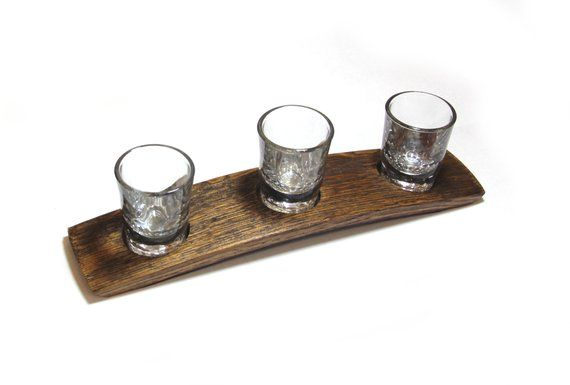 The Original 3 Glass Whiskey flight/ Bourbon flight/Scotch / Whiskey tasting set/ whiskey glass hold