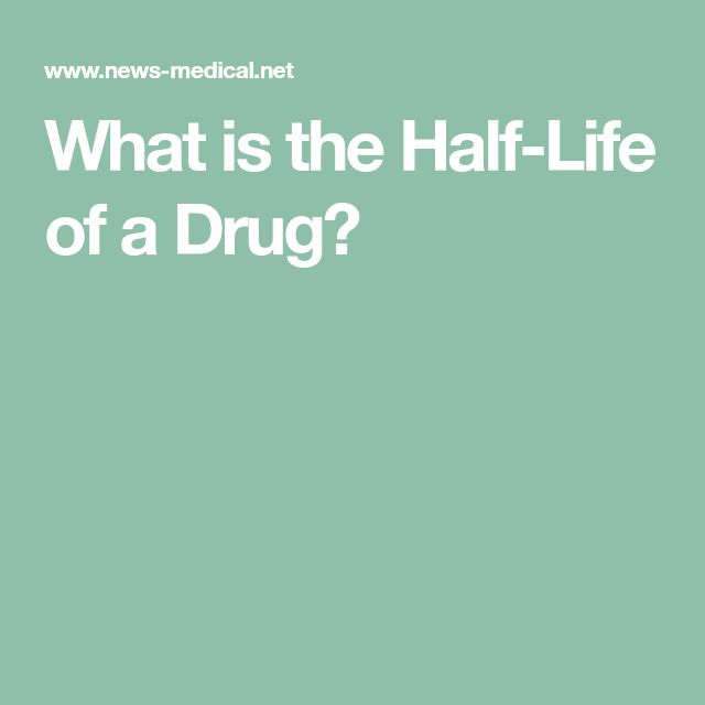 What is the Half-Life of a Drug?
