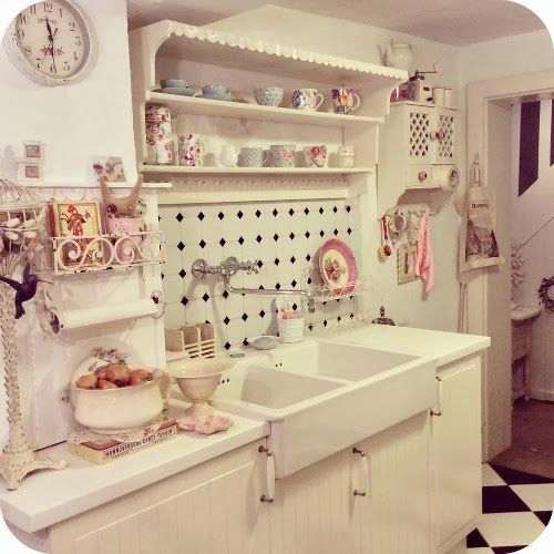 Shabby Chic Kitchen Design Ideas: 211 Best Romantic Kitchens. Images On Pinterest