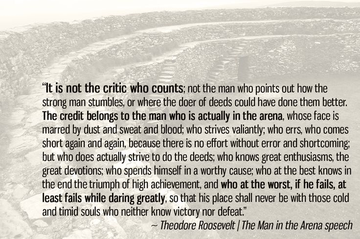 Theodore Roosevelt's The Man in the Arena: