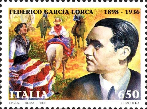1998 - Centenario della nascita di Federico Garcia Lorca (1898-1936) - Ritratto e campagna andalusa con cavalieri e donne gitane