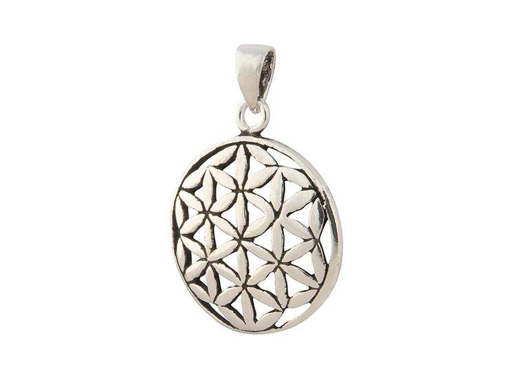 Zilveren seed of life hanger uit Bali