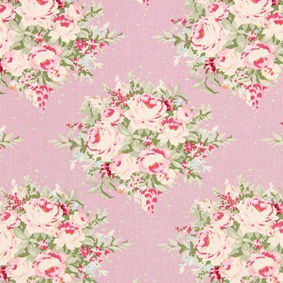 Tilda Autumntree – Floribunda Lilac - Bomull - gammalt rosa