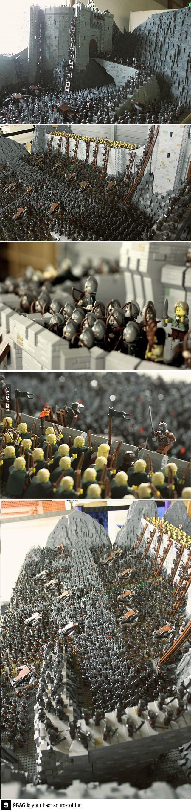 LOTR Battle Of Helms Deep Recreated with 150K LEGO Bricks