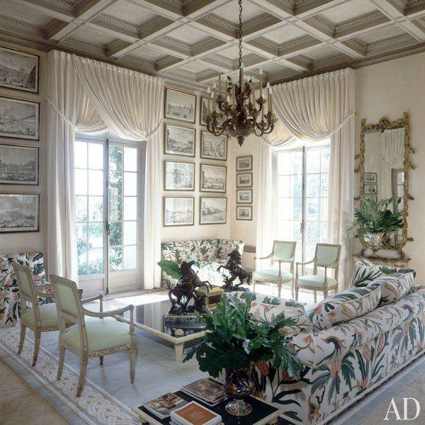 Remembering ad100 designer alberto pinto best villas for 18th century window treatments