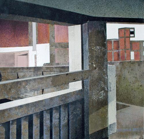 Mandy Payne 2014 The Space Between [Aerosol on concrete]