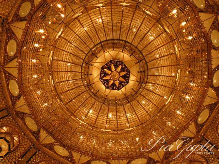 Oman | Swarovski Crystal Chandelier - Sultan Qaboos Grand Mosque, Muscat. credit: Pia Gupta. view on Fb https://www.facebook.com/OmanPocketGuide  #oman #traveltooman #destination