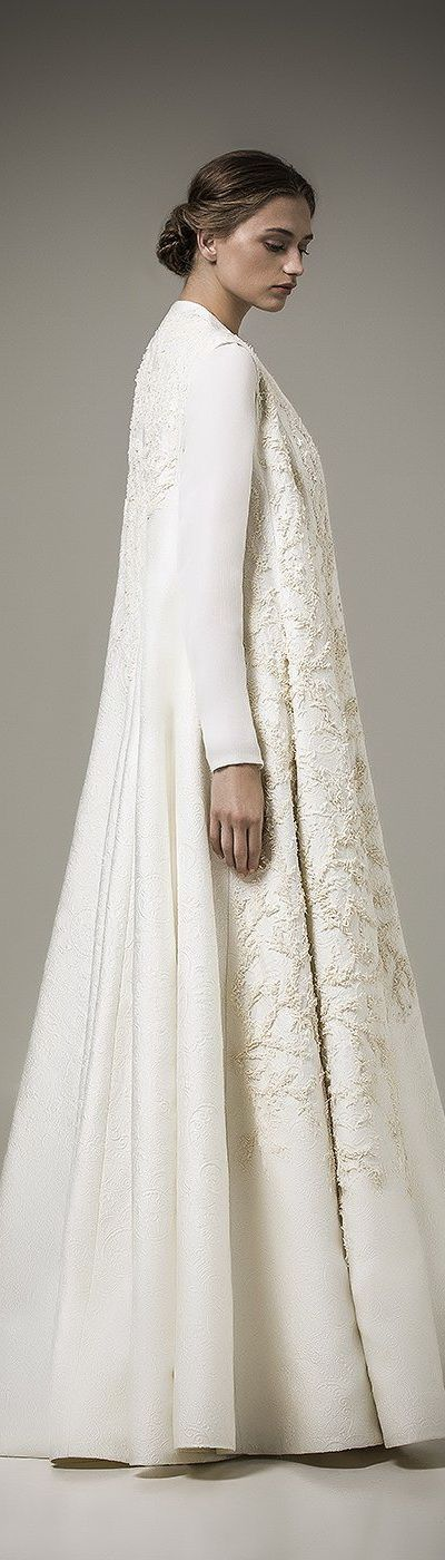 Ashi Studio ~Resort Full Length Embroidered Ivory Caftan, 2016