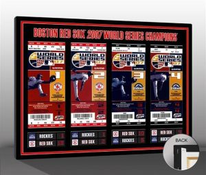 2007 World Series Tickets To History 16 X 21 Canvas Print - Boston Red Sox. For The Second Time In Four Seasons, The Boston Red Sox Are World Champions. And They Did It, Again, In Style. Trailing 3-1 To The Cleveland Indians In The Alcs, The Red Sox Rallied To Win Their Next Seven Games. By Sweeping The Colorado Rockies In The 2007 World Series, Boston Now Owns Seven World Series Championships.  The World Series Tickets To History Canvas Print Showcases Every Ticket From The Championship In…