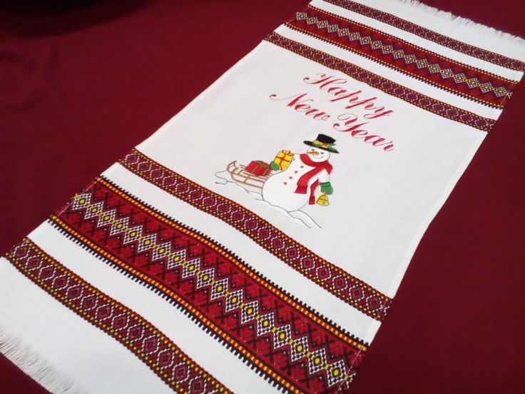 "Beautiful set of towels ""the Snowmen"" Embroidery. 2pcs by GuelderDesigns on Etsy"