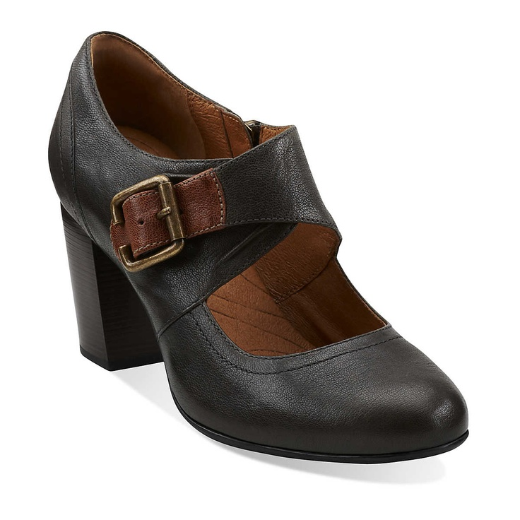 Town Club in Grey Leather - Womens Shoes from Clarks: Heels Dresses, Clarks Town, Club Alishopspinfest, Club High, Clarks 140, Style Inspiration, Town Club, Clarks Usa, Shoes Shoes